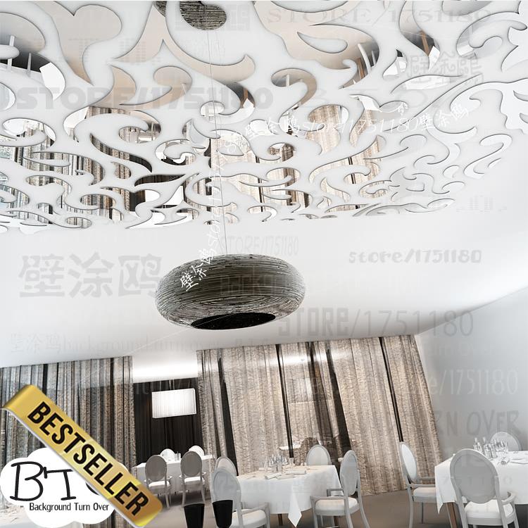 Creative european style acrylic waist line ceiling stickers vintage wall sticker home decor for Home decor line wall stickers