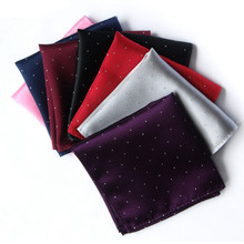 Free shipping 2015 Excellent High Quality Men's Handkerchief Gentleman Elegant Kerchief WIth Dots Pocket Square Decoration Drop