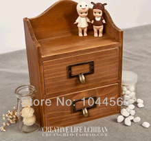 Desktop drawer wooden store content wooden zakka junk drawer ark of wood(China (Mainland))