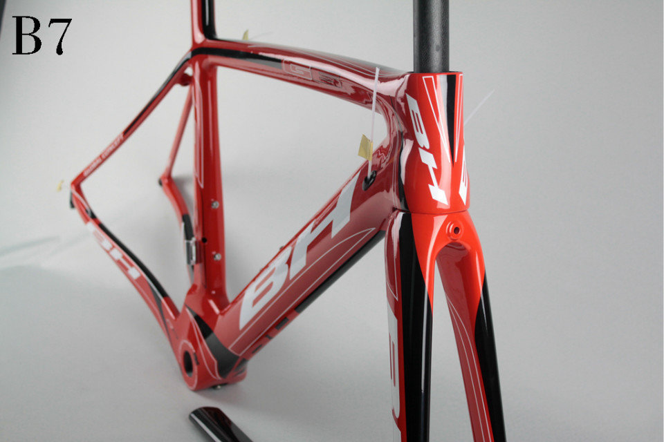 Factory sell high end BH G6 frame carbon road track bike frame red B7 005red carbon road bike framesUD Carbon Fiber Toray T800(China (Mainland))