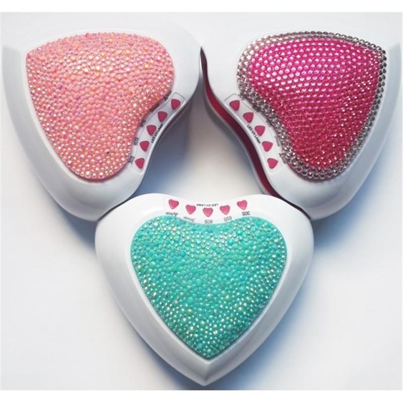 Free Shipping 1pcs Heart Shape 5W USB/Battery/Adapter Led UV Light Curing Lamp Nail Gel Drying Polish Manicure Tools Fast Dryer(China (Mainland))
