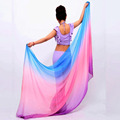 Belly Dancing Costumes chiffon yarn scarf Solid Belly Dance Veils Stage Performance Props