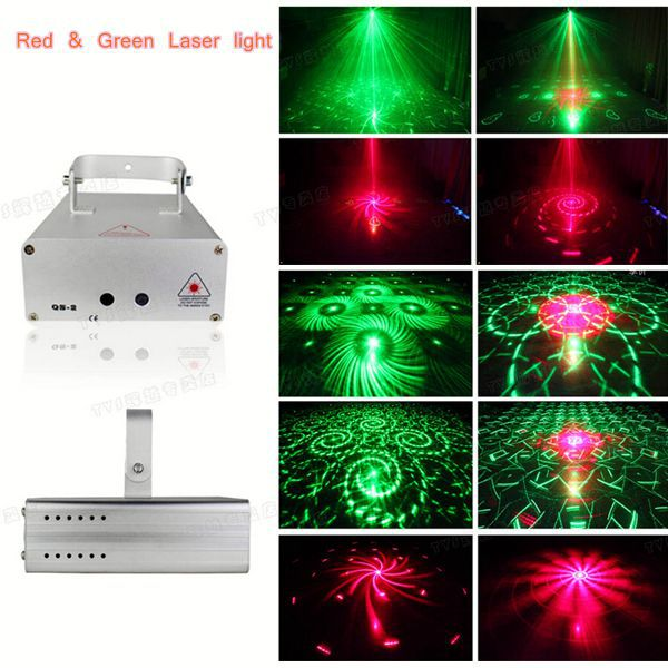led party lights mini laser stage lightingj Red Green Laser Light / Green 50mW Red 100MW Led DJ effect laser light FREE SHIP(China (Mainland))
