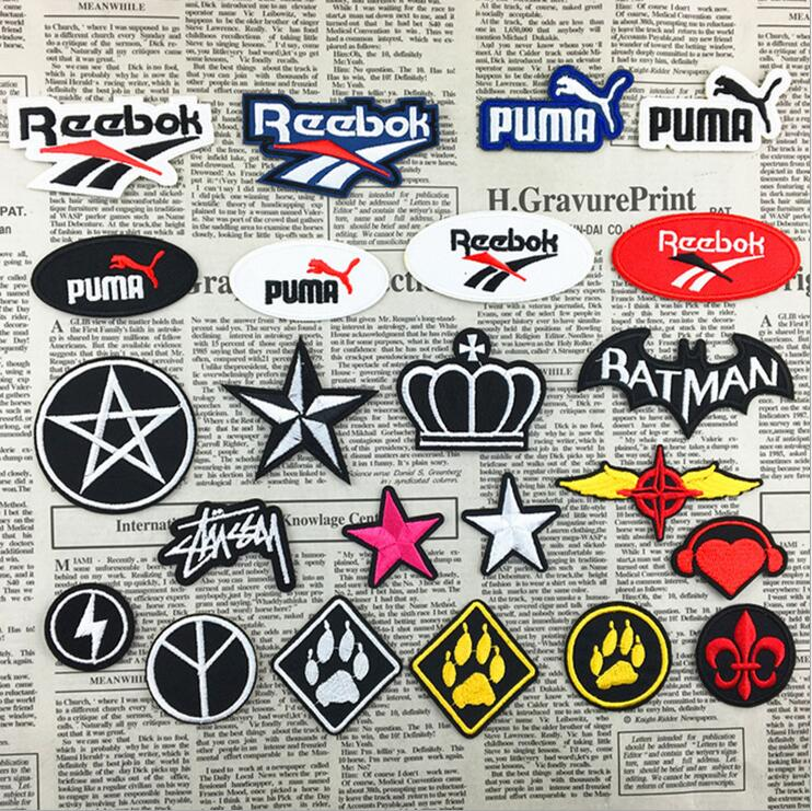 1 PCS Sport Cloth Logo Embroidery Brand Patch Plaid Stickers Felt Patches Embroidered Badge Five-star Crown Factory Direct(China (Mainland))