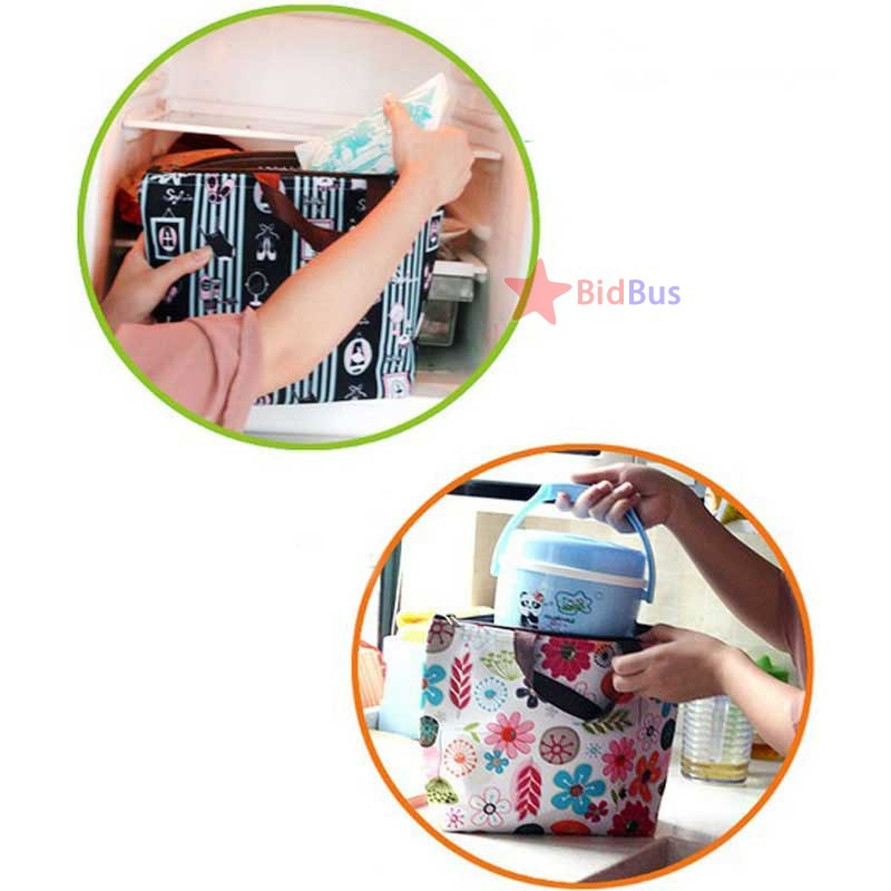Bidbus Fast Waterproof Tote Aluminum Tinfoil Insulated Lunch Picnic Travel Cooler Carry Bag(China (Mainland))