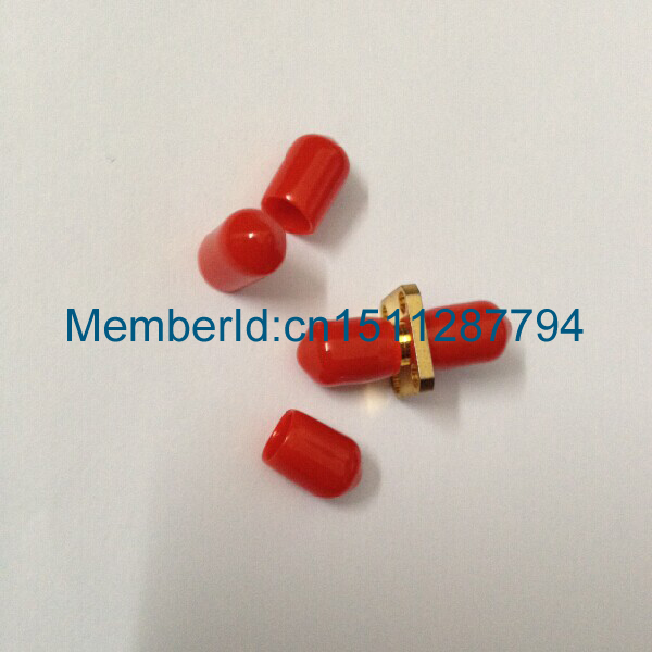 50PCS Plastic covers Dust cap Red for RF SMA female connector(China (Mainland))