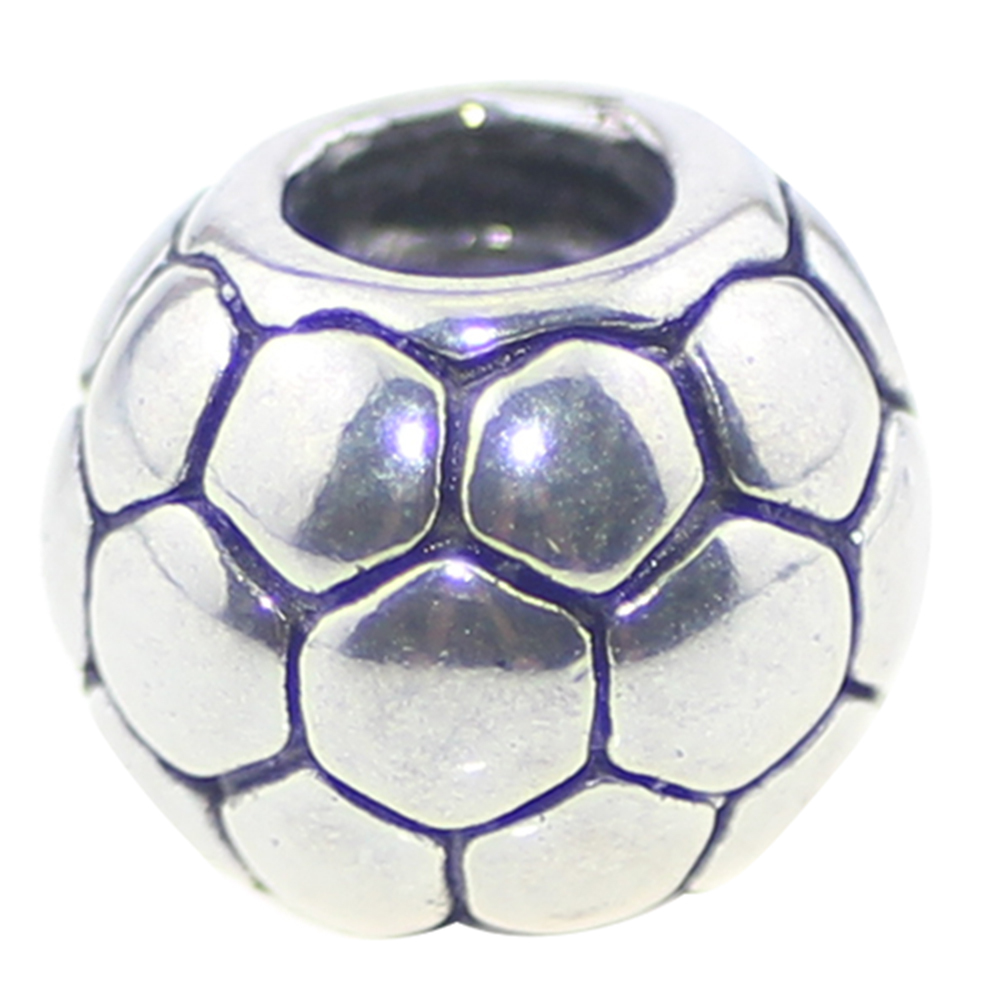 Soccer Ball for Global Football Fans European stainless steel Bead charm Fit 3mm European Bracelet Snake Chains&Bracelet(China (Mainland))