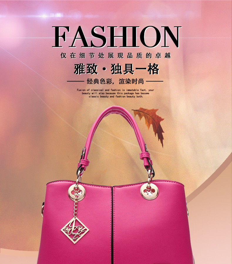 Woman leather bag luxury elegant Pu leather handbags women shoulder messenger bags OL sweet lady Big bolsas feminina