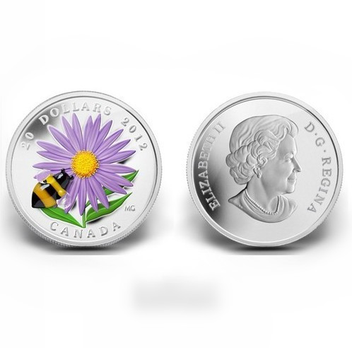 2013 Venetian glass chrysanthemum honey beesSilver plated coin canadian coin free shipping(China (Mainland))