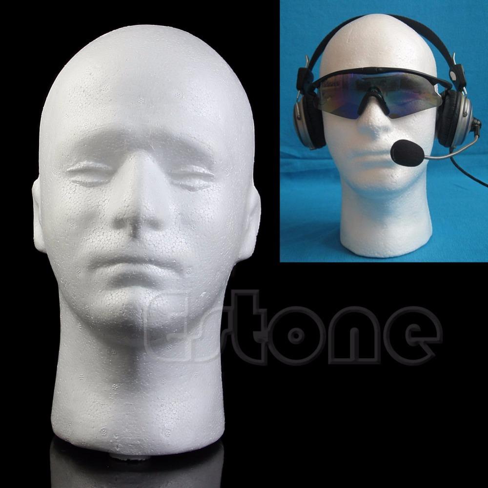Wig Glasses Hat Male Styrofoam Foam Mannequin Manikin Head Model Display Stand