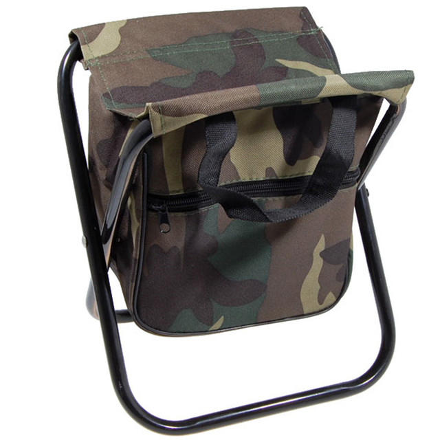 Camo Folding Camping Chair Stool