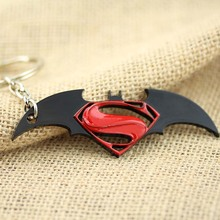 The The Avengers Super Heros Superman vs Batman Metal Keychain Pendant Key Chain Chaveiro Key Ring