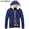 New Brand Winter Men Jacket Parka Wool Warm Hooded Outerwear For Men Thicken Windproof Down Cotton