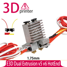 E3D All-metal Dual Extrusion v5 v6 HotEnd  Thermal head nozzle print head extruder upgrade Full Kit for 1.75mm 3D printer