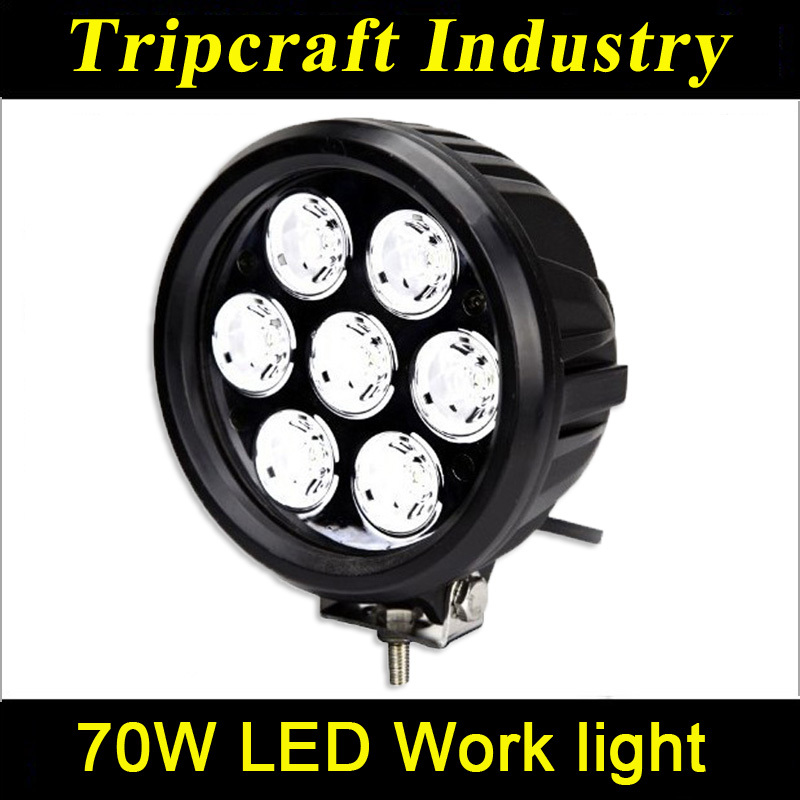 New Design High Power 70W LED WORK LIGHTS FOR TRUCK Headlamp Light For Jeep(China (Mainland))