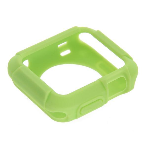 Unisex 38mm Silicone Box Case Cover Protective Frame Green for Iwatch Smart Watch Drop Shipping(China (Mainland))