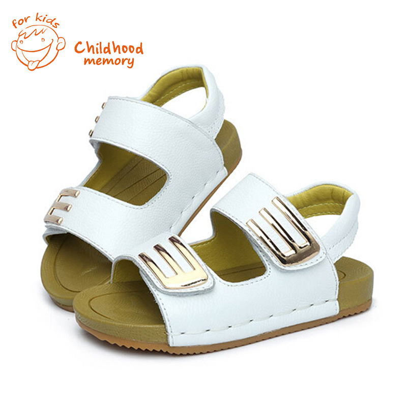 2016 Baby shoes 1 6years old baby boys leather sandals
