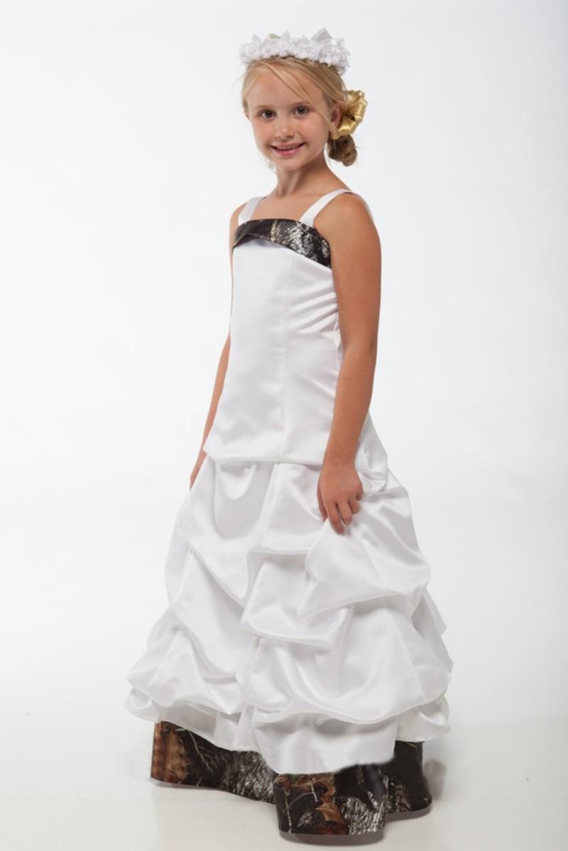 camo flower girl dresses for weddings spaghetti straps