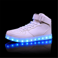 35 44 yards high help couples shining light shoes led USB charging shine shoes black and