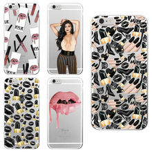 Sexy MakeUp Lips Lipstick Kylie Jenner Cosmetics Soft Phone Case Fundas For iPhone 7 7Plus 6 6S 6Plus 5 5S SE 5C 4 4S SAMSUNG(China (Mainland))