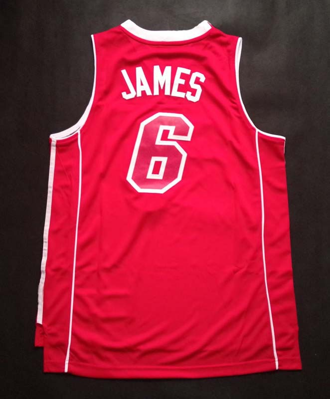 LeBron Raymone James #6 James #6 Heat team basketball jerseys, cheap high-quality embroidery color shirt, free shipping selling(China (Mainland))