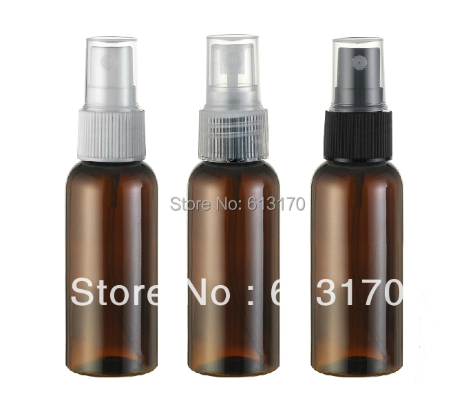 Free shipping 50ml brown pet spray bottle cosmetic plastic parfume fragrances bottle for women or men(China (Mainland))