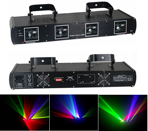 4 Lens RGYP Laser Light Disco DJ Pro Party Stage Club Lazer Beam Show System DMX laser projector(China (Mainland))