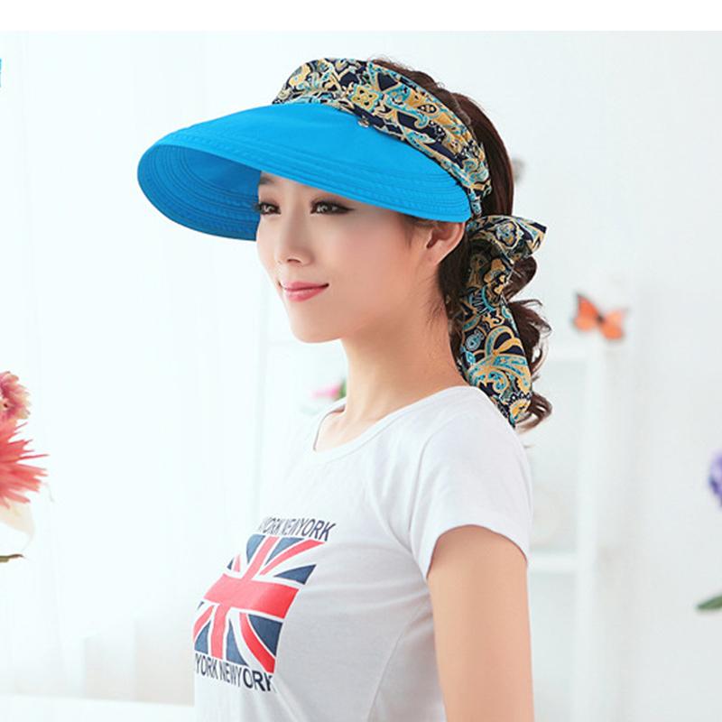 Fashion uv sun hat summer sun hats for women straw hat girls beach organza cap visors caps multipurpose foldable floppy hat(China (Mainland))