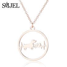 Smjel EKG Jantung Kalung untuk Wanita Lucu Hewan Anjing Cinta Hati Liontin Kalung untuk Wanita Gadis(China)