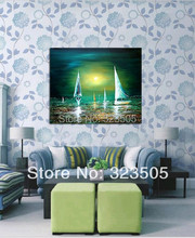 Buy large canvas wall art decorative picture Modern abstract seascape landscape oil painting canvas living room wall unframed for $66.30 in AliExpress store