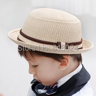 В розницу новинка дети мальчик в девочке малыш мягкая фетровая шляпа соломенная шляпа кепка Sunhat пляж кепка 2 цветов бесплатная доставка