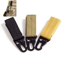Olecranon Nylon Webbing Backpack Hook Hanger Carabiner Kit Gear Survive Clasp Military Outdoor Bag Hooks Army Green Black Khaki(China (Mainland))