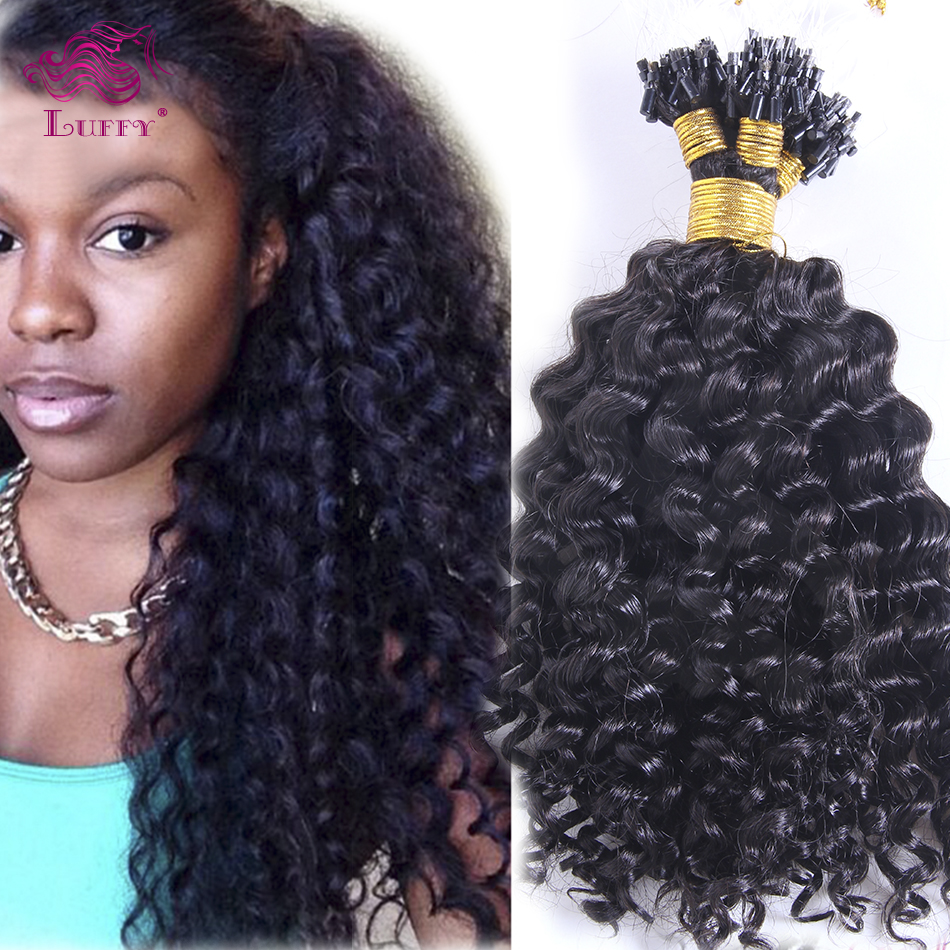 Kinky Curly Micro Loop Hair Extensions Human Hair Extensions