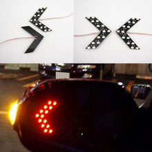 2 x Red 14 SMD LED Arrow Panel Rear View Side Mirror Turn Signal Indicator Light(China (Mainland))