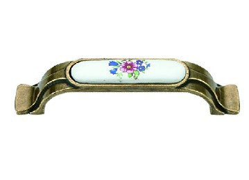 Classical Blue Flower ceramic handle antique handle furniture cabinet door handle 1183 series<br><br>Aliexpress