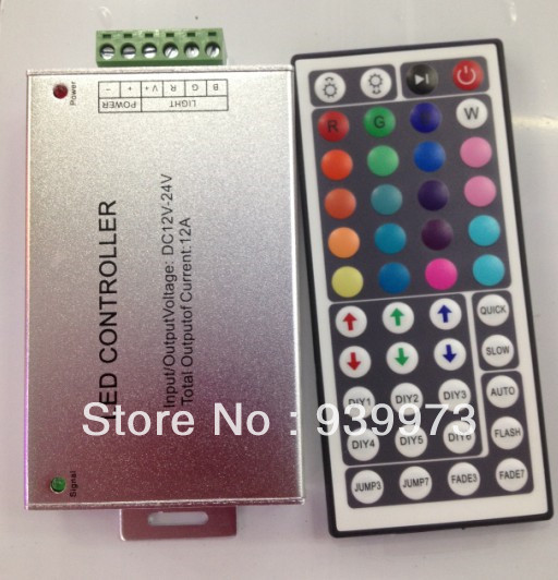 5pcs/lotDC 12V 44 Key LED IR Remote Controller for RGB SMD 5050 3528 LED Strip Light with Auto memorizing function Free Shipping<br><br>Aliexpress