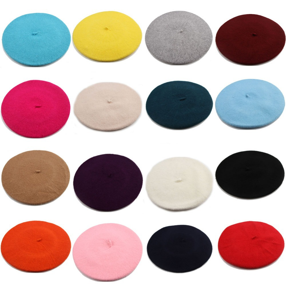 Гаджет  Fashion Lady Beanie Winter Style Hat Ski Cap Wool Blend Beret 16 Colors HT-0009 None Одежда и аксессуары