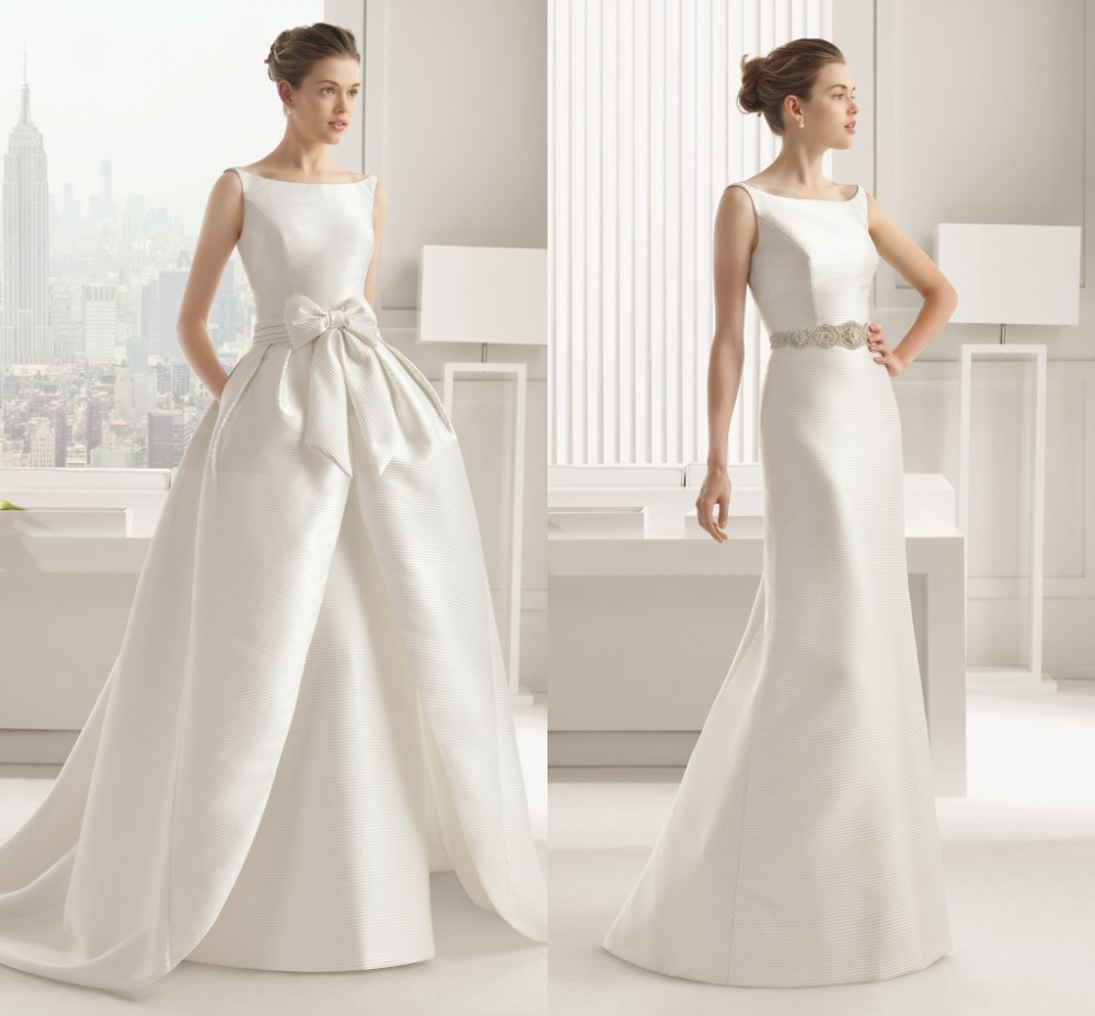 Turmec Ball Gown Wedding Dress With Detachable Train