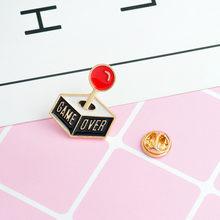 QIHE QH-Libro GIOIELLI Spille Libro spille Buona vibes badge per Saperne di più risvolto Spille s Divertente citazione Libro gioielli Spille s collezione(China)