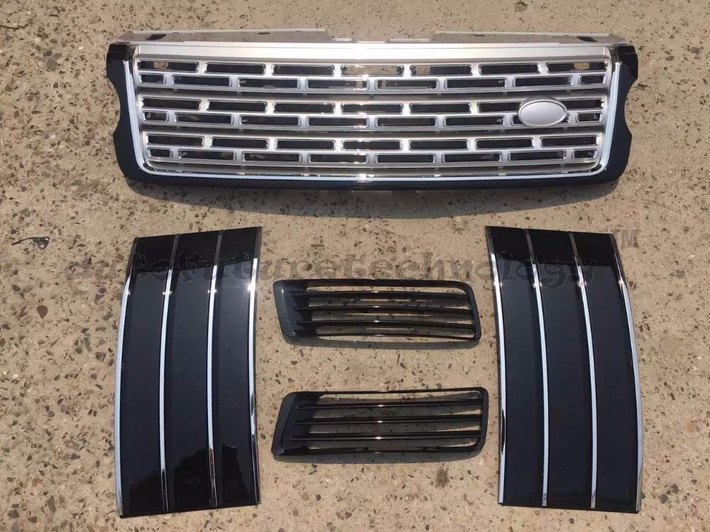 Car Styling Refitting Auto Vehicle Parts Grill grille Air Vents Kit Fit For Land 2013 -2016 on Rover Range Rover Vogue L405(China (Mainland))