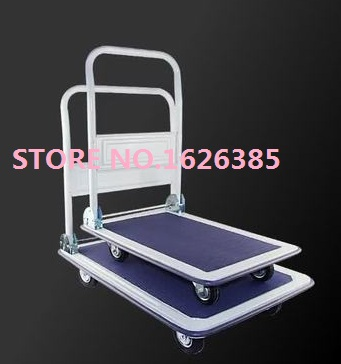 Free shipping! 300KG double bearing bounce wheel super Silent folding trolley cargo cart cargo trolley trailer truck(China (Mainland))