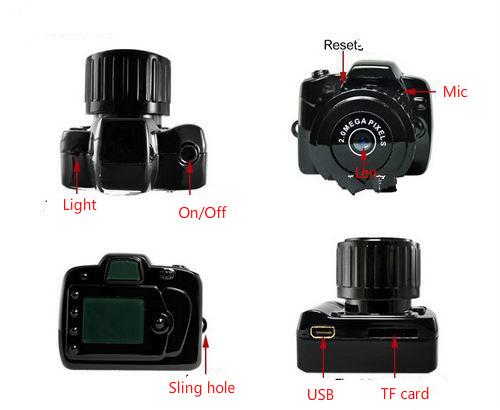 Y2000 mini camera HD mini camera movement DV ultra small DV Mini outdoor recorder