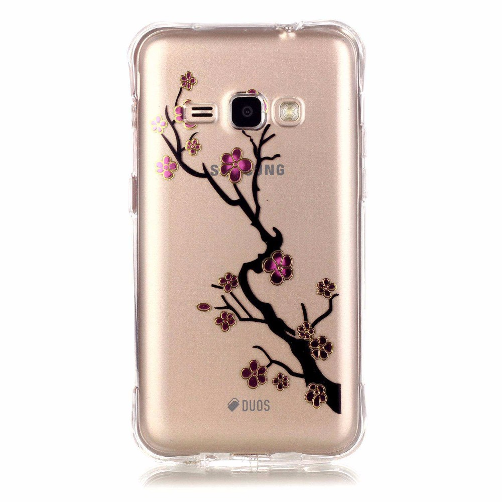 Transparent Bronzing Clear pattern soft silicon Case For Samsung Galaxy J3 J1 2016 Case for  Galaxy J120 J320 Back Phone Cover