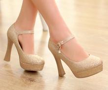 Hot selling women High Heels open peep Toe white gold Weddings shoes women pumps platform sandals big plus size Eur 34-43(China (Mainland))