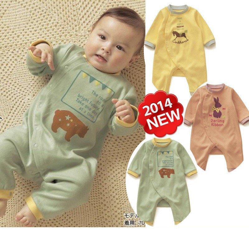 Newborn next 2016 spring and autumn new style baby Boy and Girl cotton clothing infant children rompers Clothes kids Jumpsuit(China (Mainland))