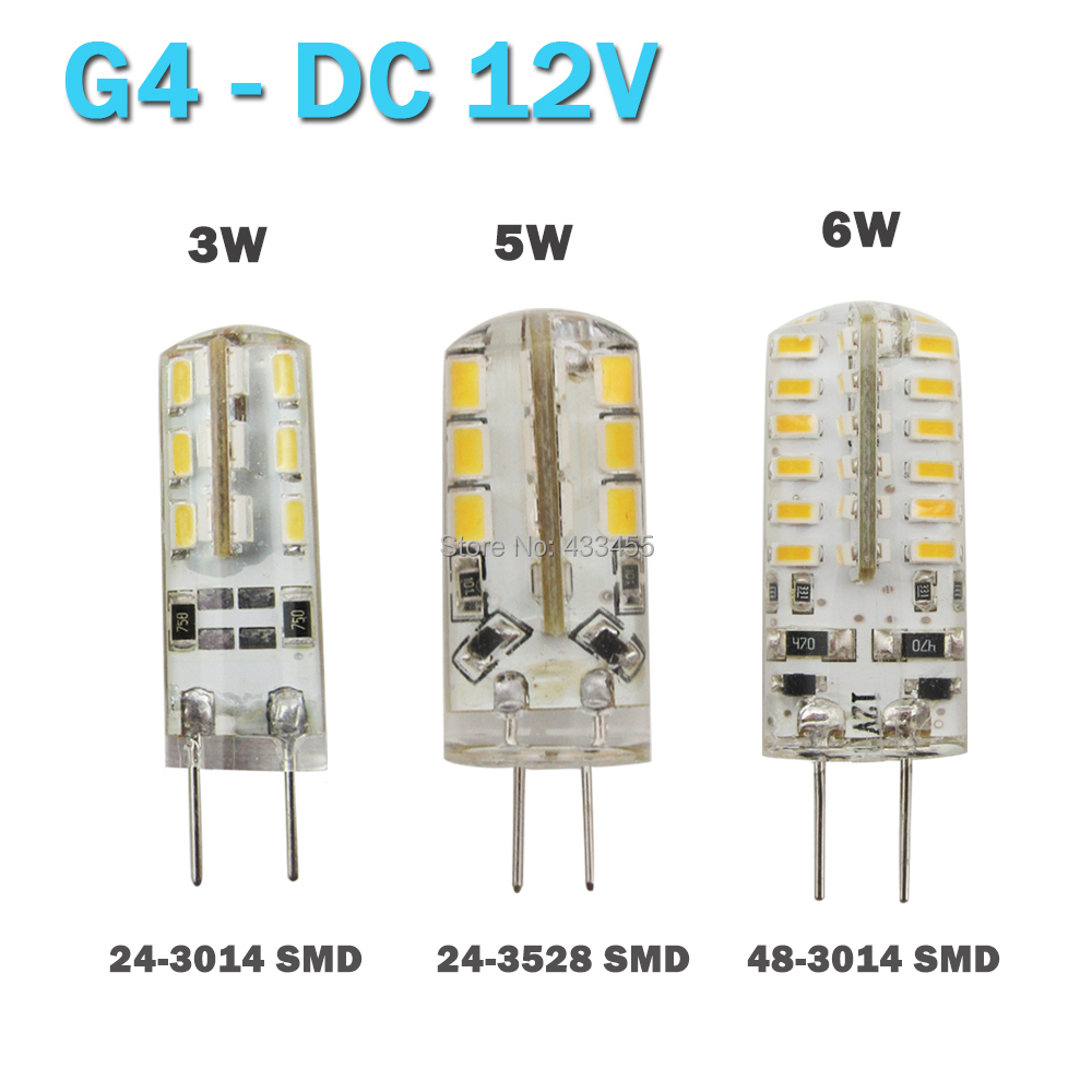 High Power SMD 3014 3528 3W 5W 12V G4 LED Lamp Replace 20W - 50W halogen lamp g4 led 12v LED Bulb lamp Freeshipping(China (Mainland))