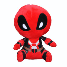 2016 anime Marvel Movie plush toy Cartoon Characters Deadpool stuffed doll Sweet Cute Spiderman Deadpool kids toys collectibles