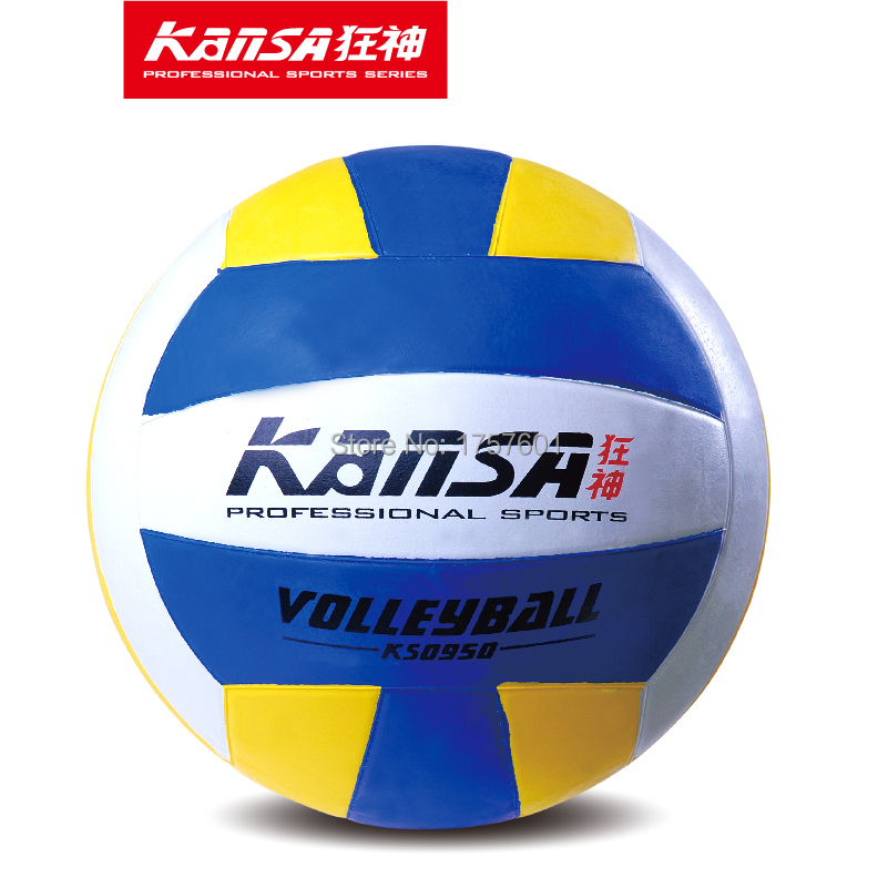2015 Chinese Olympic team co-brand KANSA high quality beach ball soft foam outdoor/indoor training competition volleyball balls(China (Mainland))