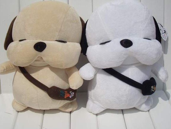 plush toy dog/Couple with Dog Figurine/Brown Mens White Female Models/free shipping