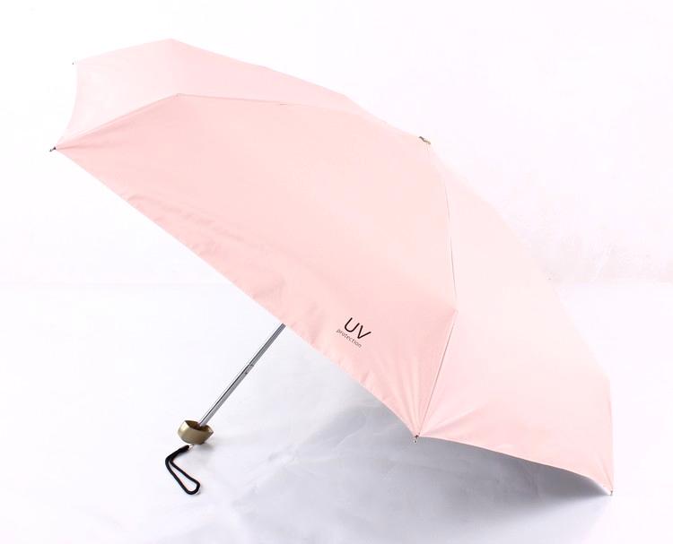 5 Folding UV Protection Umbrella Rain Women Men Parasol 198g Super Light  Small Pockets Umbrellas 6K Manual Umbrella Paraguas - us411 71de4cba2b23